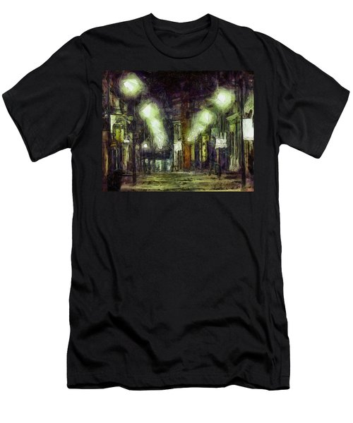Men's T-Shirt (Slim Fit) featuring the drawing City Street by Joe Misrasi