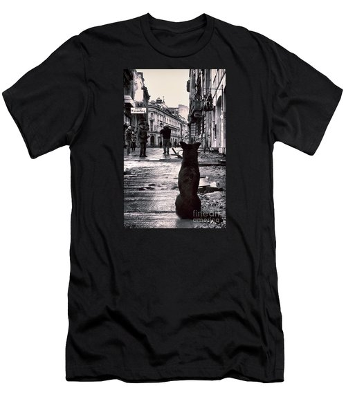 City Streets And The Theory Of Waiting Men's T-Shirt (Athletic Fit)