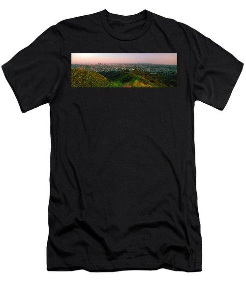 Cityscape, Santa Monica, City Of Los Men's T-Shirt (Athletic Fit)