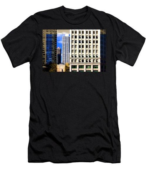 Cityscape Windows Men's T-Shirt (Athletic Fit)