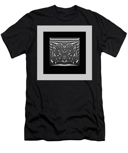 Men's T-Shirt (Athletic Fit) featuring the digital art Classic Shine - Silver by Mihaela Stancu