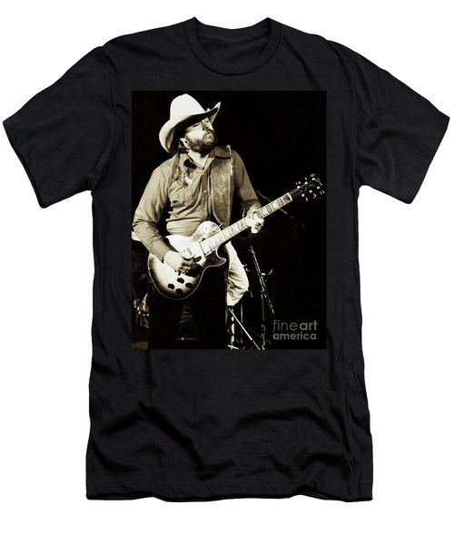 Classic Toy Caldwell Of The Marshall Tucker Band At The Cow Palace-new Years Concert  Men's T-Shirt (Athletic Fit)