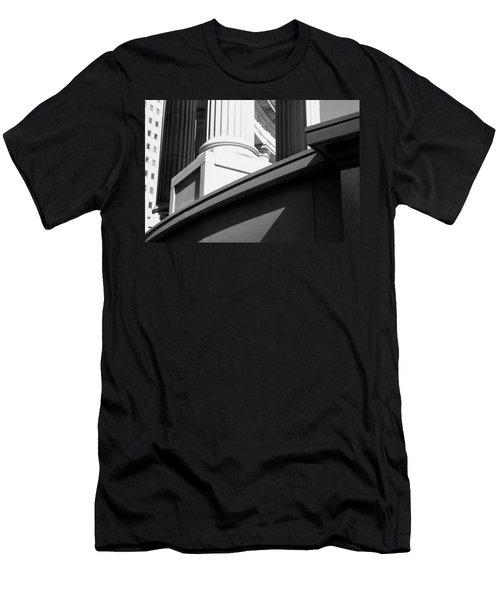 Classical Architectural Columns Black White Men's T-Shirt (Athletic Fit)