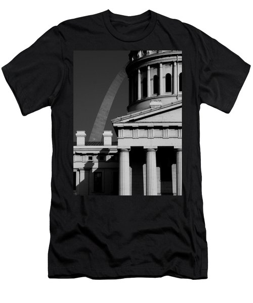 Classical Courthouse Arch Black White Men's T-Shirt (Athletic Fit)
