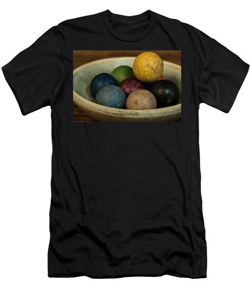 Clay Marbles In Bowl Men's T-Shirt (Athletic Fit)