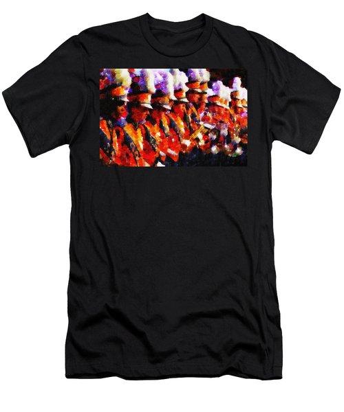 Clemson Tiger Band - Afremov-style Men's T-Shirt (Athletic Fit)