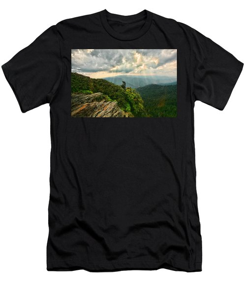 Cliff Tops At Mt. Leconte Gsmnp Men's T-Shirt (Athletic Fit)