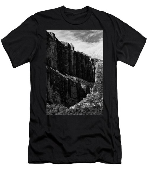 Cliffs In Contrast Men's T-Shirt (Athletic Fit)