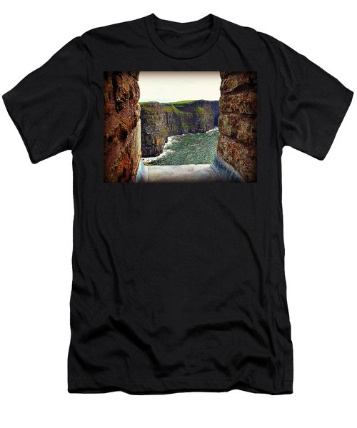 Cliffs Of Moher From O'brien's Tower Men's T-Shirt (Slim Fit) by Tara Potts