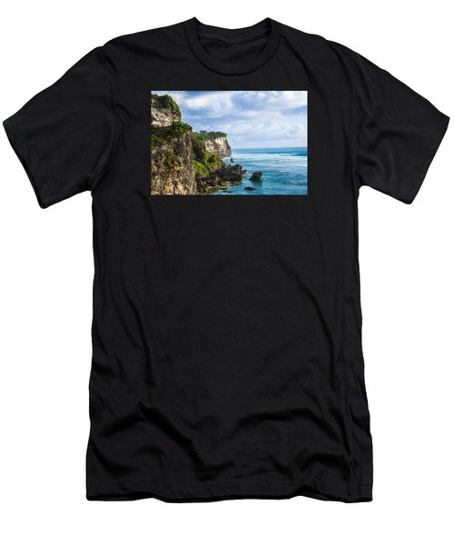 Cliffs On The Indonesian Coastline Men's T-Shirt (Athletic Fit)
