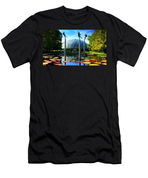 Climatron Geodesic Dome Landscape Men's T-Shirt (Athletic Fit)