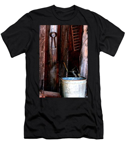 Men's T-Shirt (Slim Fit) featuring the photograph Clippers And The Bucket by Lesa Fine