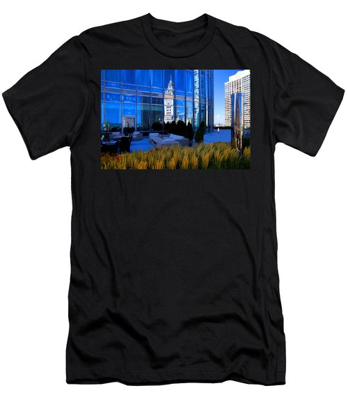 Clock Tower Reflection Men's T-Shirt (Athletic Fit)
