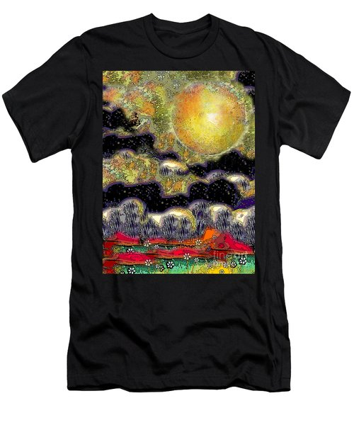 Clonescape Moon Men's T-Shirt (Slim Fit) by Carol Jacobs