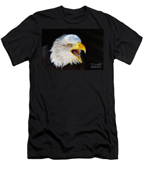 Closeup Portrait Of A Screaming American Bald Eagle Men's T-Shirt (Athletic Fit)