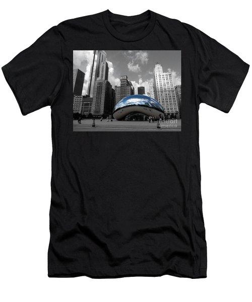 Cloud Gate B-w Chicago Men's T-Shirt (Athletic Fit)