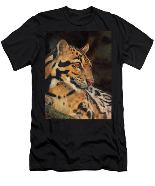 Clouded Leopard Men's T-Shirt (Slim Fit)