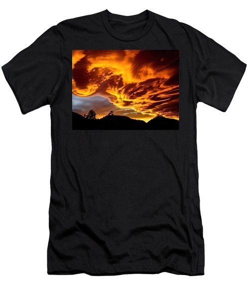 Men's T-Shirt (Slim Fit) featuring the photograph Clouds 2 by Pamela Cooper