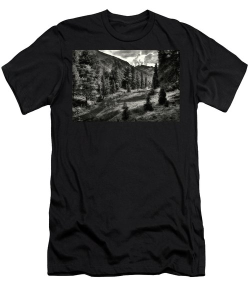 Clouds Over The Mountainscape Men's T-Shirt (Athletic Fit)