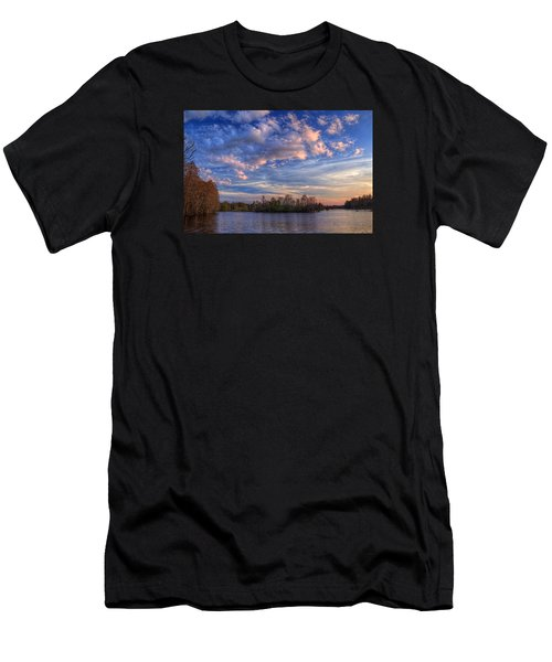 Clouds Over The River Men's T-Shirt (Athletic Fit)