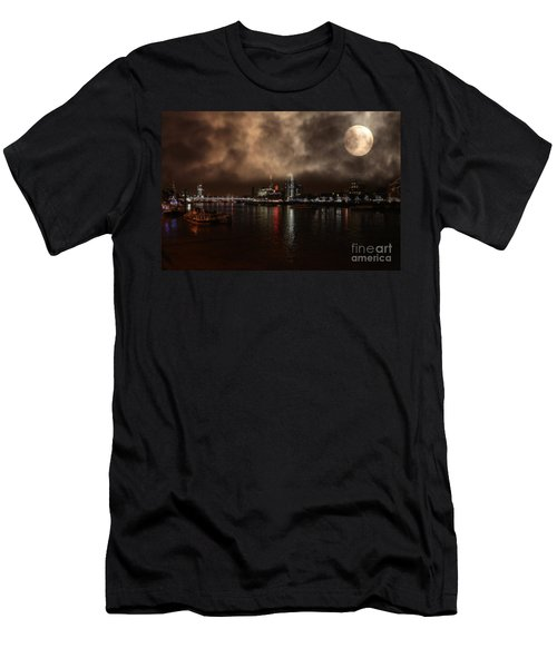 Clouds Over The River Thames Men's T-Shirt (Slim Fit) by Doc Braham