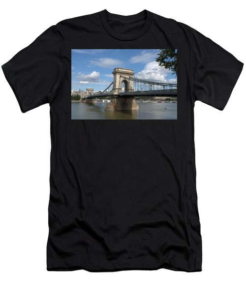 Clouds Sky Water And Bridge Men's T-Shirt (Athletic Fit)