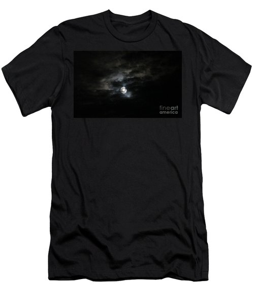 Night Time Cloudy Dark Moon Men's T-Shirt (Athletic Fit)