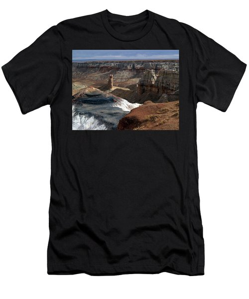 Coal Mine Mesa 09 Men's T-Shirt (Slim Fit) by Jeff Brunton