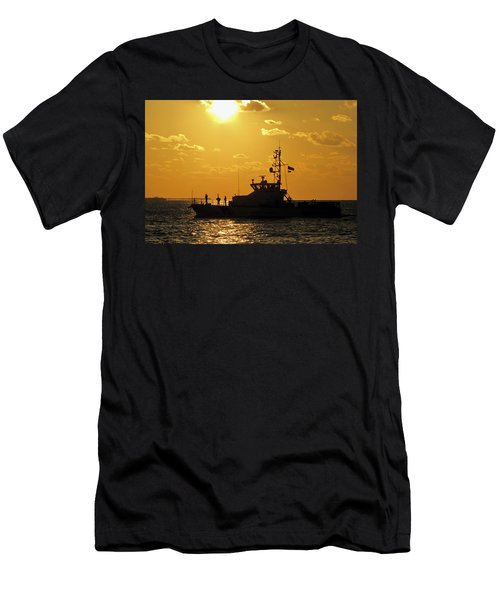 Coast Guard In Paradise - Key West Men's T-Shirt (Athletic Fit)