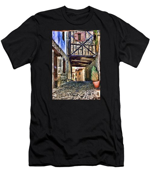 Cobble Streets Of Potes Spain By Diana Sainz Men's T-Shirt (Athletic Fit)