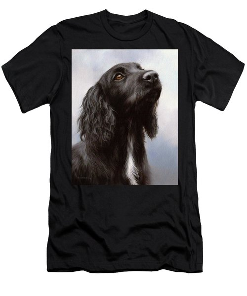 Cocker Spaniel Painting Men's T-Shirt (Athletic Fit)