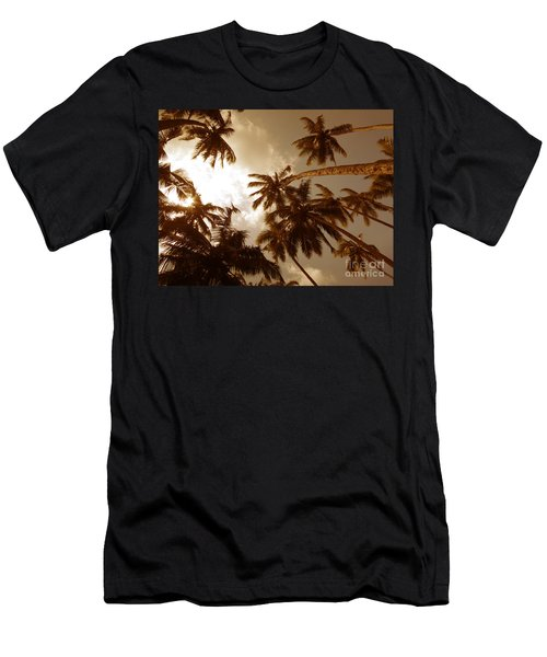 Coconut Palms Men's T-Shirt (Slim Fit) by Mini Arora