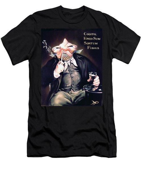 Cogito Ergo Sum Sortum Fishus Men's T-Shirt (Athletic Fit)