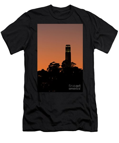Men's T-Shirt (Slim Fit) featuring the photograph Coit Tower Sunset by Kate Brown