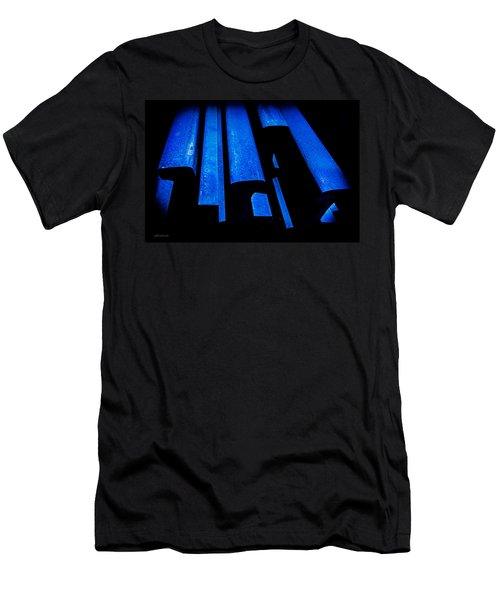 Men's T-Shirt (Slim Fit) featuring the photograph Cold Blue Steel by Steven Milner