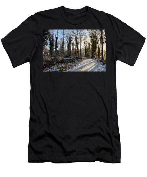 Men's T-Shirt (Slim Fit) featuring the photograph Cold Morning by Felicia Tica