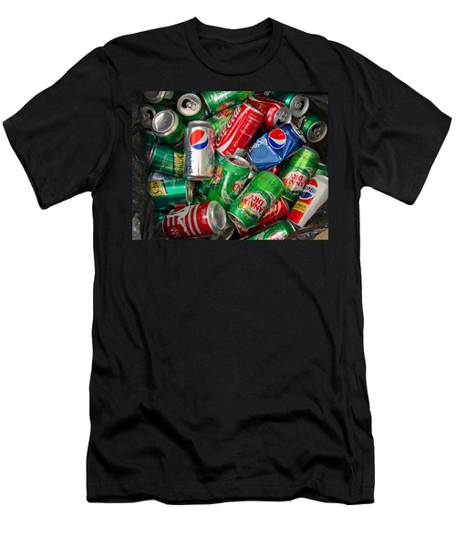 Men's T-Shirt (Slim Fit) featuring the photograph Collection Of Cans 02 by Andy Lawless