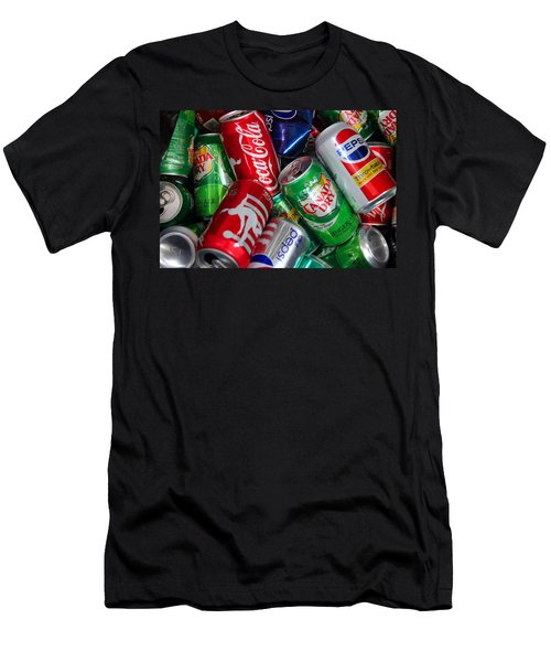 Men's T-Shirt (Slim Fit) featuring the photograph Collection Of Cans 04 by Andy Lawless