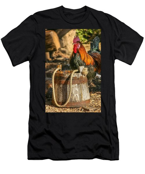Coloful Rooster 2 Men's T-Shirt (Athletic Fit)