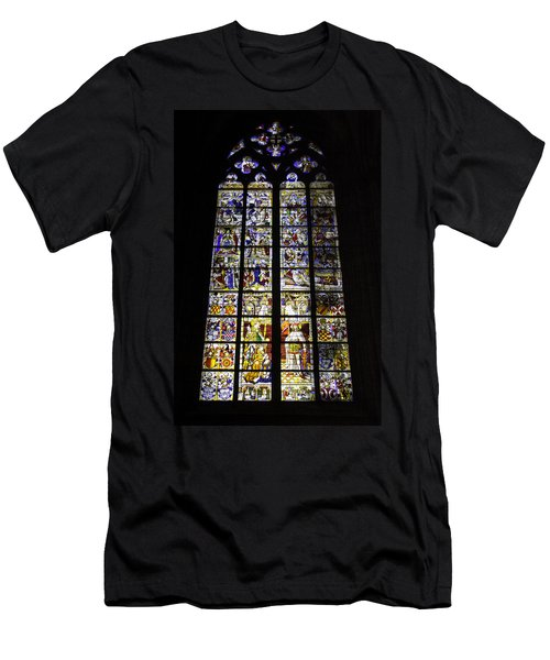 Cologne Cathedral Stained Glass Window Of St Peter And Tree Of Jesse Men's T-Shirt (Athletic Fit)