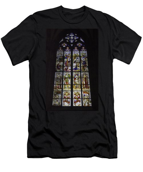 Cologne Cathedral Stained Glass Window Of The Nativity Men's T-Shirt (Athletic Fit)