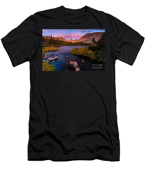 Color Over  Indian Peaks Men's T-Shirt (Athletic Fit)