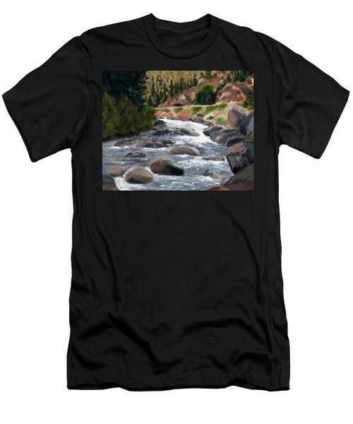 Men's T-Shirt (Slim Fit) featuring the painting Colorado Rapids by Jamie Frier