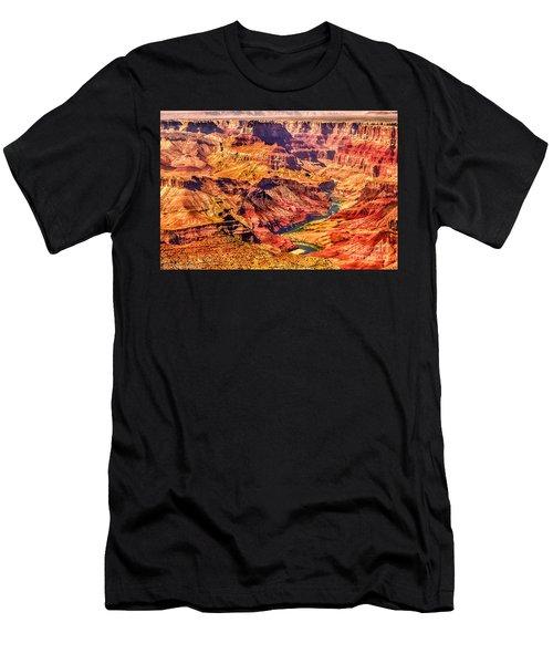 Colorado River 1 Mi Below 100 Miles To Vermillion Cliffs Utah Men's T-Shirt (Athletic Fit)