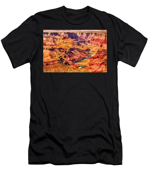 Colorado River 1 Mi Below 100 Miles To Vermillion Cliffs Utah Men's T-Shirt (Athletic Fit)
