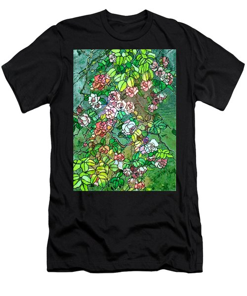 Colored Rose Garden Men's T-Shirt (Athletic Fit)