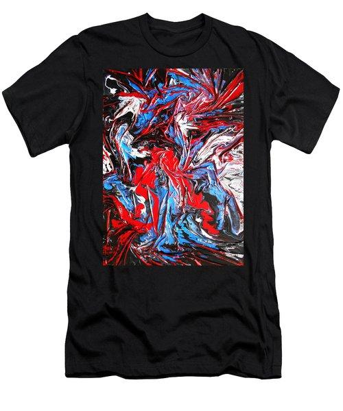 Colorful Chaos Men's T-Shirt (Athletic Fit)