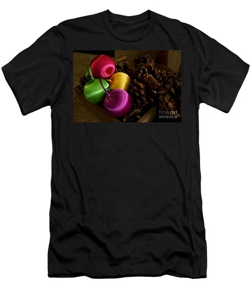 Colorful Christmas Balls Men's T-Shirt (Athletic Fit)