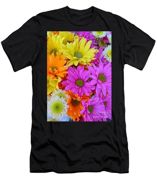 Colorful Daisies Men's T-Shirt (Athletic Fit)