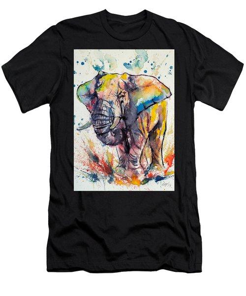 Colorful Elephant Men's T-Shirt (Athletic Fit)